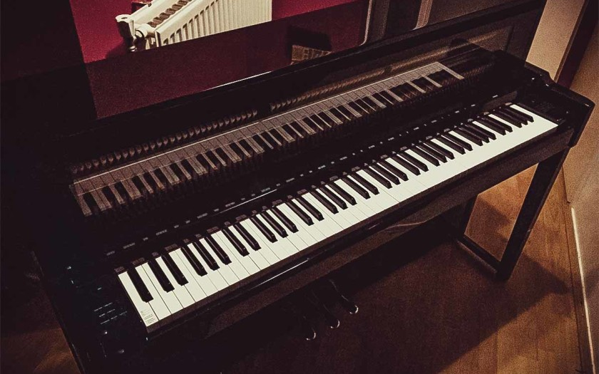 Yamaha piano in studio
